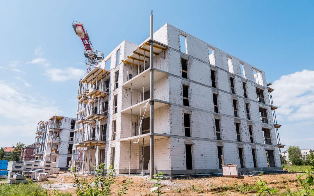 Dokumentacja Fotograficzna powstawania osiedla mieszkaniowego
