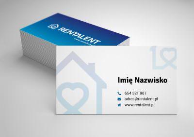 Projekt wizytówki dla firmy Rentalent